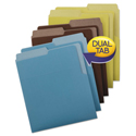 Organized Up Heavyweight Vertical File Folders, Assorted Earth Tones, 6/Pack
