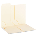 3-In-1 Supertab Section Folders, 1/3 Cut Top Tab, Letter, Manila, 12/pack