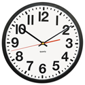 "Deluxe Large Numeral Clock, 13"", Black Frame, White Face"