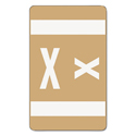 Alpha-Z Color-Coded Second Letter Labels, Letter X, Light Brown, 100/pack