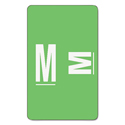 Alpha-Z Color-Coded Second Letter Labels, Letter M, Light Green, 100/pack