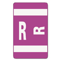 Alpha-Z Color-Coded Second Letter Labels, Letter R, Purple, 100/pack
