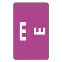 Alpha-Z Color-Coded Second Letter Labels, Letter E, Purple, 100/pack
