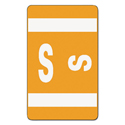 Alpha-Z Color-Coded Second Letter Labels, Letter S, Orange, 100/pack