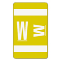 Alpha-Z Color-Coded Second Letter Labels, Letter W, Yellow, 100/pack