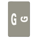 Alpha-Z Color-Coded Second Letter Labels, Letter G, Gray, 100/pack