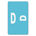 Alpha-Z Color-Coded Second Letter Labels, Letter D, Light Blue, 100/pack