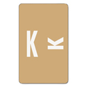 Alpha-Z Color-Coded Second Letter Labels, Letter K, Light Brown, 100/pack