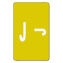 Alpha-Z Color-Coded Second Letter Labels, Letter J, Yellow, 100/pack