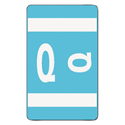 Alpha-Z Color-Coded Second Letter Labels, Letter Q, Light Blue, 100/pack