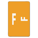 Alpha-Z Color-Coded Second Letter Labels, Letter F, Orange, 100/pack