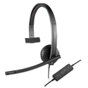 Usb H570e Over-The-Head Wired Headset, Monaural, Black