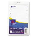 Print Or Write File Folder Labels, 11/16 X 3 7/16, White, 252/pack