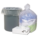 High Density Can Liners, 31-33gal, .433mil, 33 x 40, Natural, 100/Carton