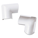 Clip-Over Door Top Bend for Mini Cord Cover, White, 2 per Pack