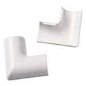 Clip-Over Flat Bend for Mini Cord Cover, White, 2 per Pack