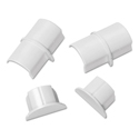 Smooth Fit Connector and End Cap Pack, White, 2 Connectors, 2 Endcaps per Pack