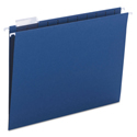 Colored Hanging File Folders, Letter Size, 1/5-Cut Tab, Navy, 25/Box