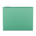 Colored Hanging File Folders, Letter Size, 1/5-Cut Tab, Green, 25/Box