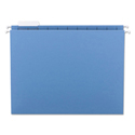 Colored Hanging File Folders, Letter Size, 1/5-Cut Tab, Blue, 25/Box