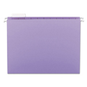 Colored Hanging File Folders, Letter Size, 1/5-Cut Tab, Lavender, 25/Box