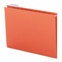 Colored Hanging File Folders, Letter Size, 1/5-Cut Tab, Orange, 25/Box