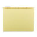 Colored Hanging File Folders, Letter Size, 1/5-Cut Tab, Yellow, 25/Box
