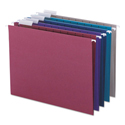 Colored Hanging File Folders, Letter Size, 1/5-Cut Tab, Assorted, 25/Box