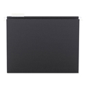 Colored Hanging File Folders, Letter Size, 1/5-Cut Tab, Black, 25/Box