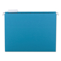 Colored Hanging File Folders, Letter Size, 1/5-Cut Tab, Teal, 25/Box