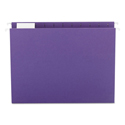 Colored Hanging File Folders, Letter Size, 1/5-Cut Tab, Purple, 25/Box