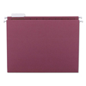 Colored Hanging File Folders, Letter Size, 1/5-Cut Tab, Maroon, 25/Box