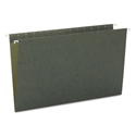 Hanging File Folders, Untabbed, 11 Point Stock, Legal, Green, 25/Box