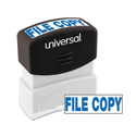 Message Stamp, FILE COPY, Pre-Inked One-Color, Blue