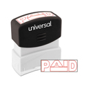 Message Stamp, PAID, Pre-Inked One-Color, Red