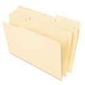 Heavyweight File Folders, 1/3 Cut One-Ply Top Tab, Letter, Manila, 50/pack