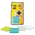 Full Adhesive Notes, 2 x 2, Assorted Bora Bora Colors, 25-Sheet, 8/Pack