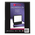 Organized Up Stackit Folder, Textured Stock, 11 x 8 1/2, Black, 10/Pack