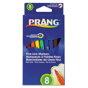 Prang Markers, Fine Point, 8 Assorted Colors, 8/Set