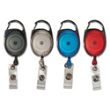 "Carabiner-Style Retractable Id Card Reel, 30"" Extension, Assorted, 20/pack"