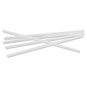 "Jumbo Straws, 7 3/4"", Plastic, Translucent, Unwrapped, 250/Pack"