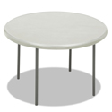 IndestrucTables Too 1200 Series Resin Folding Table, 48 dia x 29h, Platinum