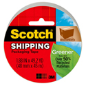 "Greener Commercial Grade Packaging Tape, 1.88"" x 49.2 yd, 3"" Core, Clear"