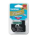 "M Series Tape Cartridge for P-Touch Labelers, 1/2""w, Black on Green"