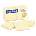 Self-Stick Notes, 3 x 3, Yellow, 100-Sheet, 12/Pack