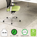 EnvironMat Recycled Anytime Use Chair Mat for Hard Floor, 36 x 48 w/Lip, Clear