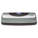 15-Sheet Electric Portable Desktop Punch, Silver/Black