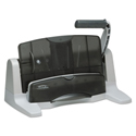 "40-Sheet LightTouch Two-to-Seven-Hole Punch, 9/32"" Holes, Black/Gray"