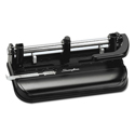 "32-Sheet Lever Handle Two-to-Seven-Hole Punch, 9/32"" Holes, Black"