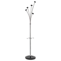 Festival Coat Stand with Umbrella Holder, Five Knobs, Chrome